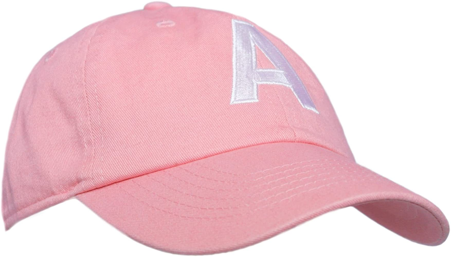 a5d24972f Amazon.com: Tiny Expressions Toddler Girls' Pink Embroidered Initial ...