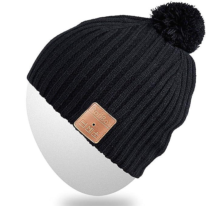 d5a51b85e2d Rotibox Winter Fashional Bluetooth Beanie Hat Music Cap Wireless Headphones  Headsets Earphones Removal Speakers Mic Hands