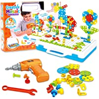 Lekebaby Electric Drill Puzzle 237 Pieces DIY Construction Toys Educational Creative Set for Kids Boys and Girls