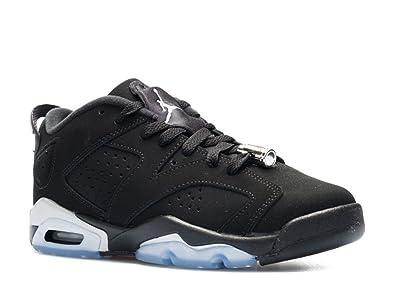 timeless design 1a312 39dab Nike Jungen Air Jordan 6 Retro Low BG Turnschuhe, Schwarz Silber Weiß (