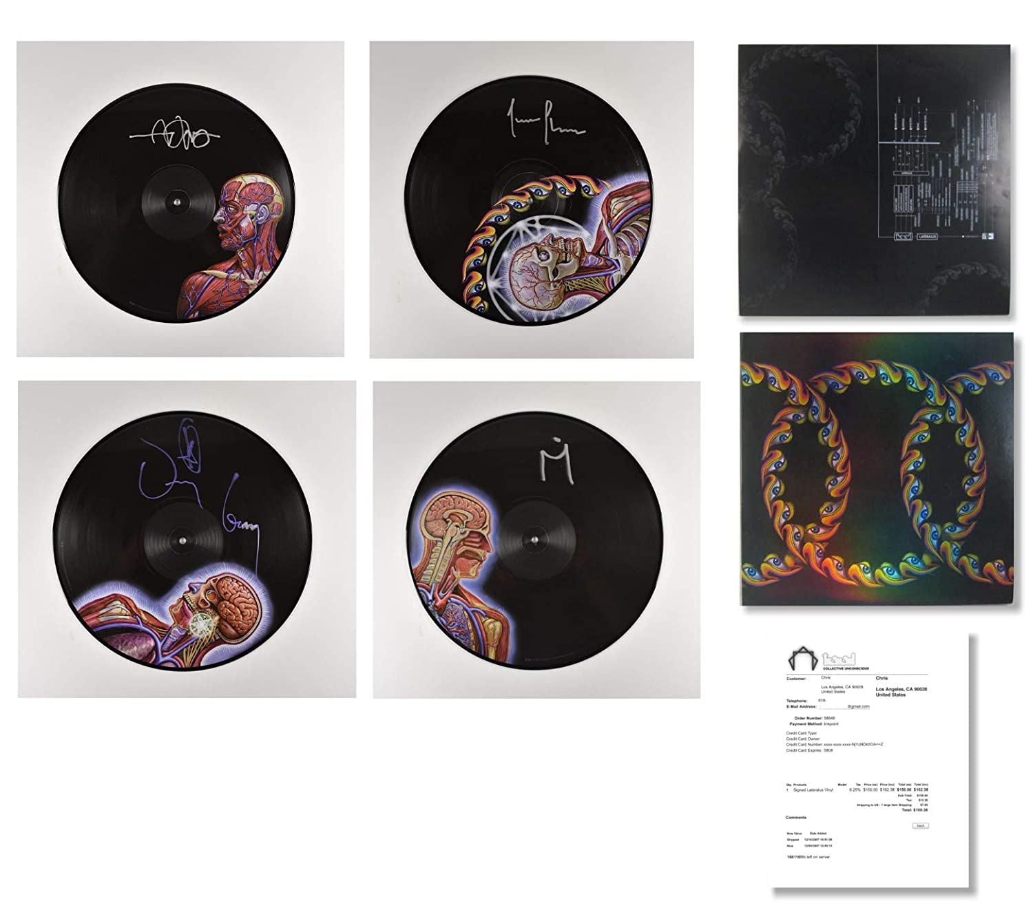 TOOL Lateralus Autographed Signed Picture Disc Record Album