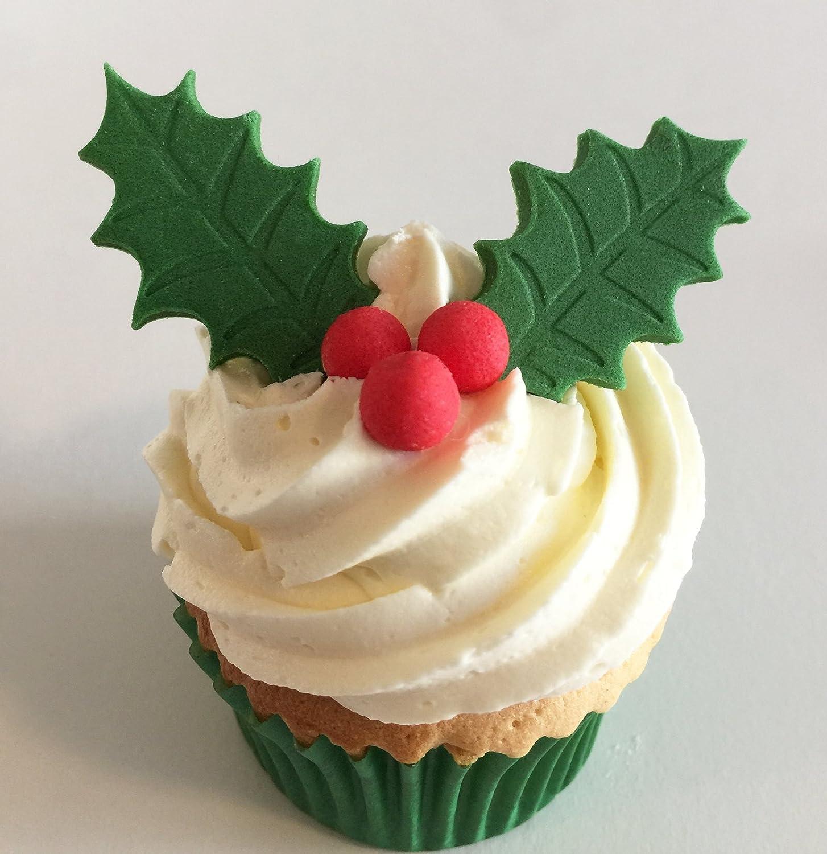 cake topper cupcakes 100 x Green Edible stars