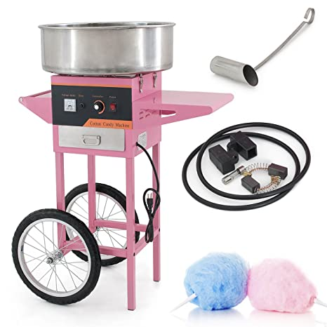 arksen eléctrico algodón Candy máquina, azúcar Floss marcador, Carnaval estilo, mesa/carrito