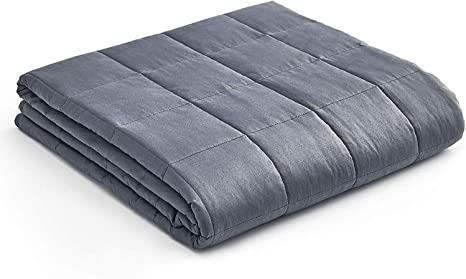 Weighted Blanket Reduce Stress Promote Deep Sleep Cotton Material Glass Beads US