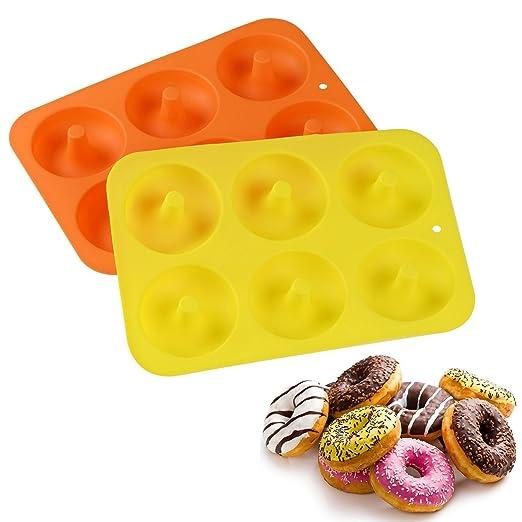 vinallo 2 pcs 6 taza de silicona Donut para repostería eléctrica ...
