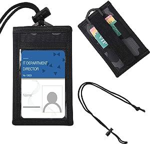 Tactical ID Card Holder Hook Badge Holder with Neck Lanyard Pen Holder Credit Card Organizer - Camouflage 1