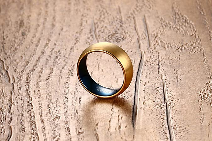MP 8 mm anillo del carburo de tungsteno Lengend Of Zelda Trifuerza hombre alta Polaco de boda Band: Amazon.es: Joyería