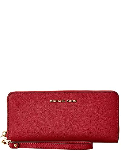 b169d01e91f4d Image Unavailable. Image not available for. Color  Michael Michael Kors Jet  Set Travel Leather Continental Wallet ...