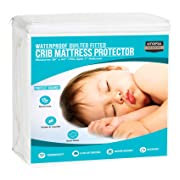 Utopia Bedding Waterproof Crib Mattress Protector - Hypoallergenic Quilted Crib Fitted - Cradle Mattress Pad (Single Pack)