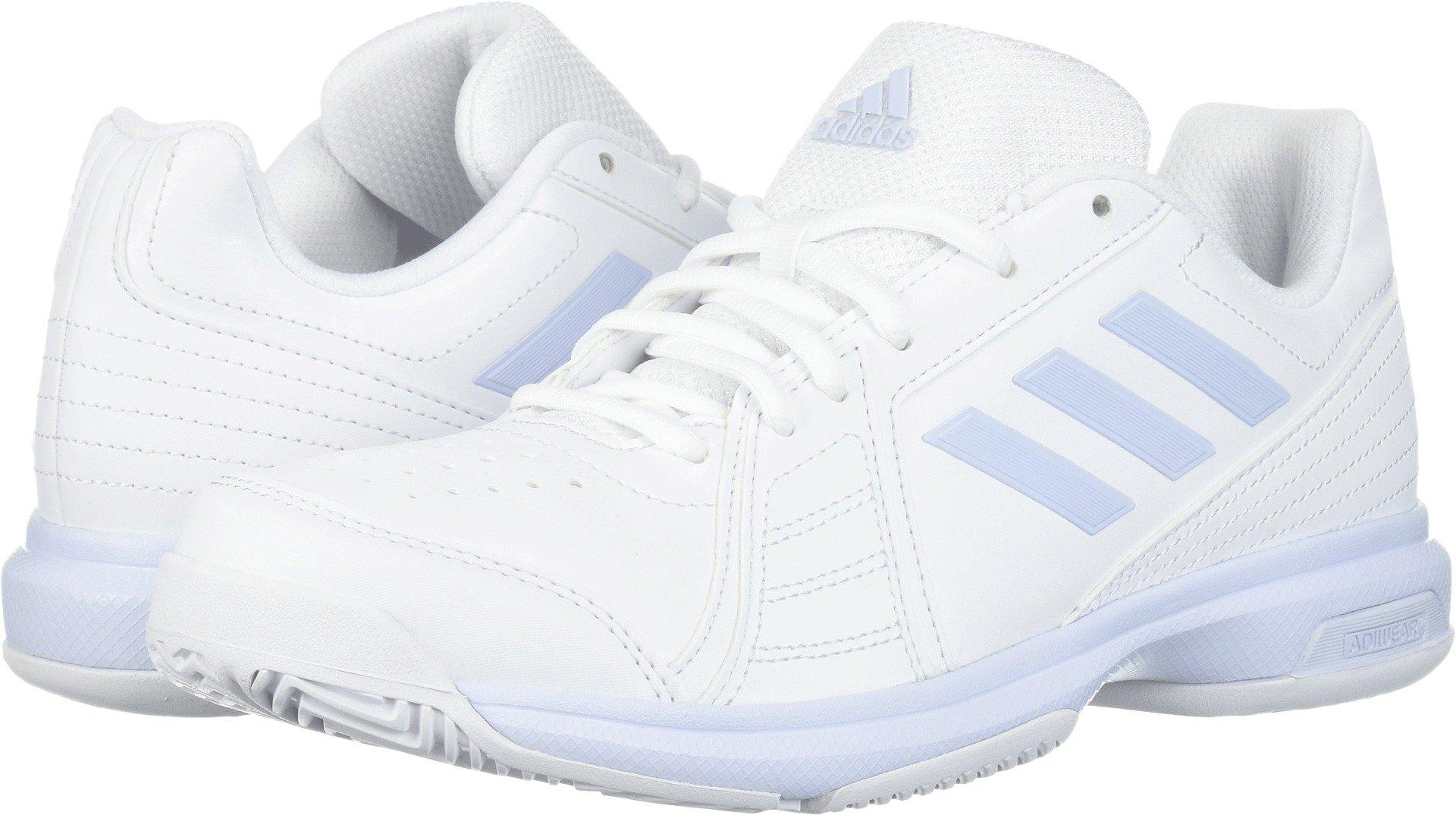adidas  Women's Aspire Tennis Shoe, White/Aero Blue/White, 7.5 M US by adidas (Image #1)