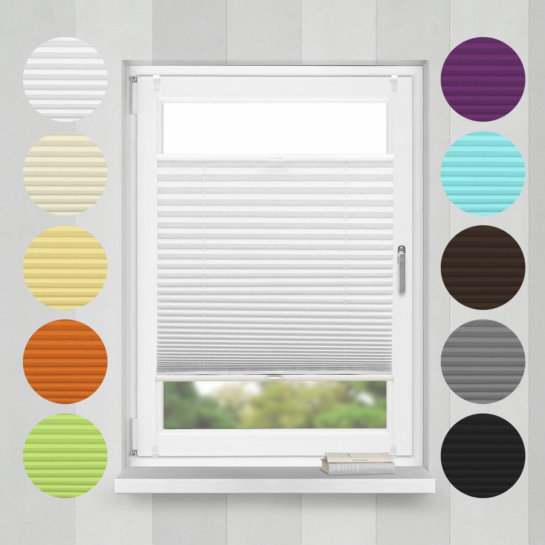Home-Vision Plissee Faltrollo ohne Bohren mit mit mit Klemmträger   -fix (Weiß, B75cm x H200cm) Blickdicht Sonnenschutz Jalousie für Fenster & Tür B01N7YTEUG Plissees 559606