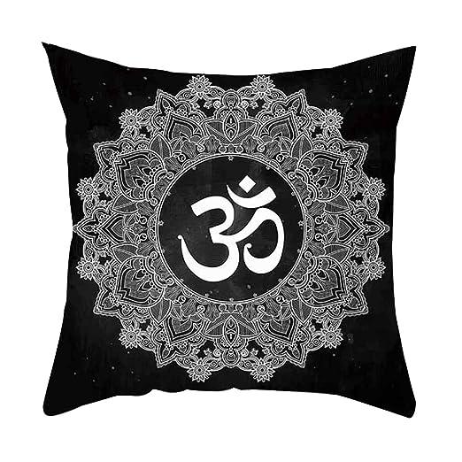 AchidistviQ - Funda para Cojín de Cintura, Diseño de Símbolo de la Luna del Sol