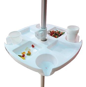 Tavolini Per Ombrelloni Da Spiaggia.Tavolo Tavolino Vassoio 8 Vani Fisso Per Ombrellone 43 X 43 Cm