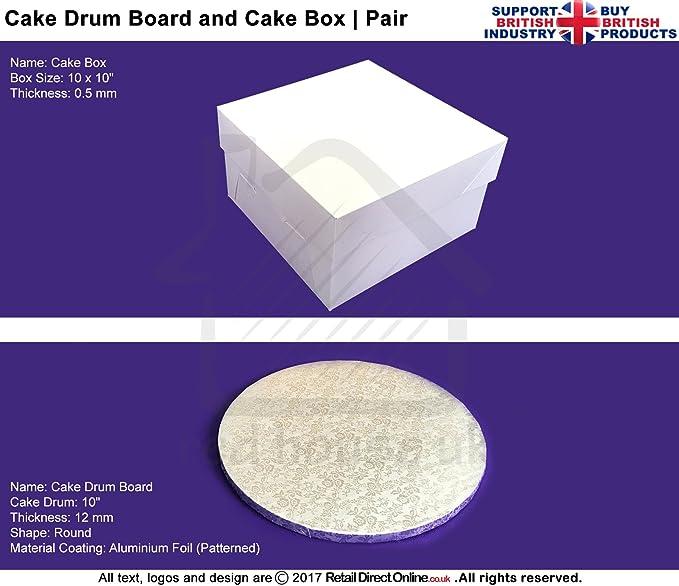 Combo Deal | Cake Box + tapa + para tarta (Junta | 10 x 10 ...