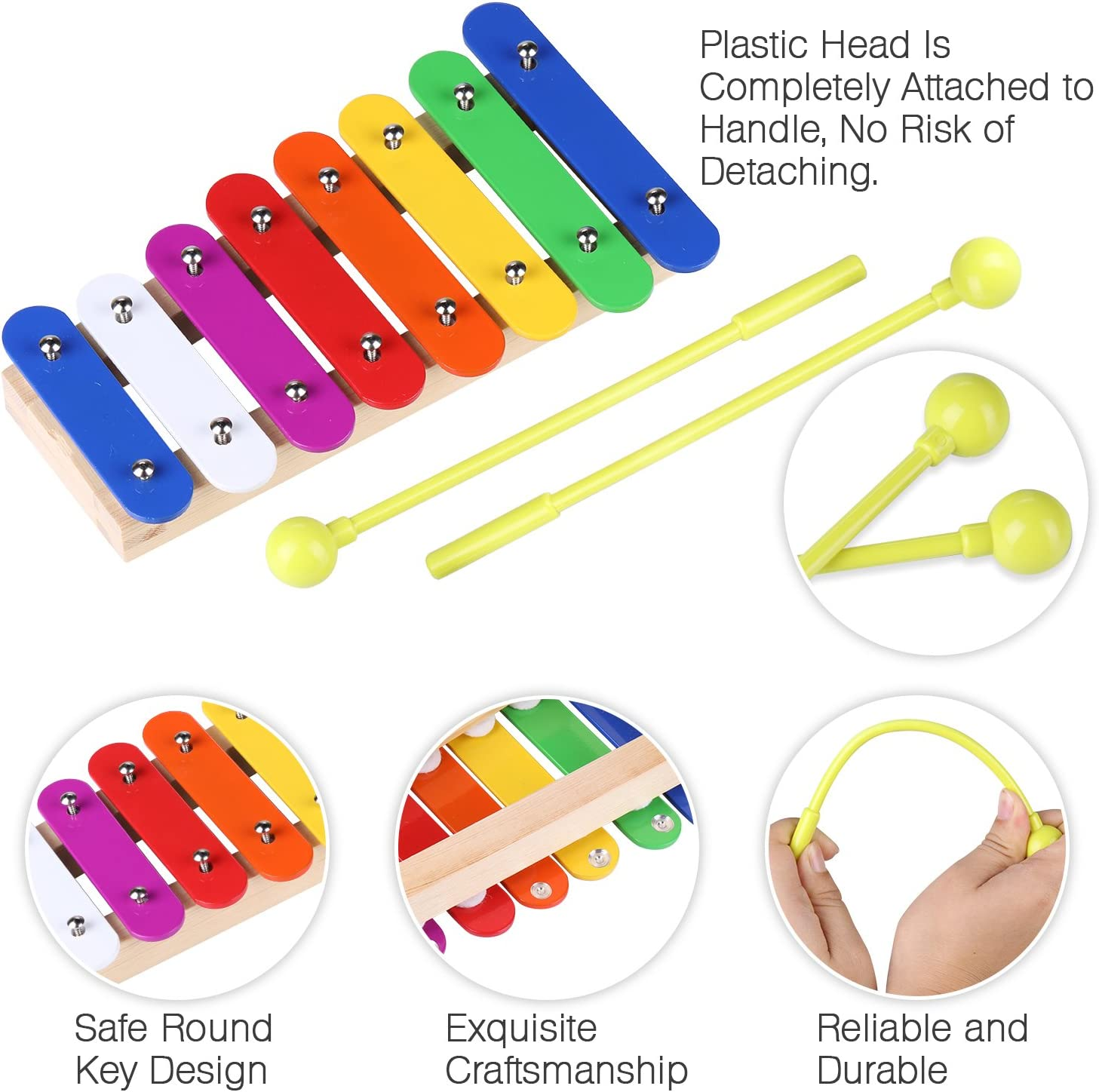 Children Guitar Shape Xylophone Instruments Learning Education Musical Toy DS