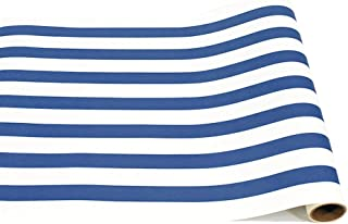 product image for Hester and Cook Striped Table Runner - Navy Paper Table Runner for Parties or Weddings - American Made