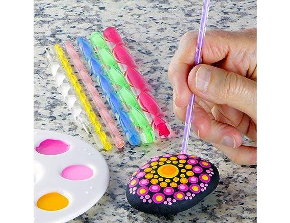 Mandala - Juego de herramientas para pintar rocas y mandalas (34 piezas): Amazon.es: Juguetes y juegos