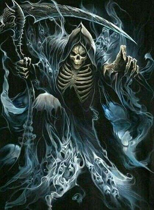 Amazon Com Diamond Painting Skeleton Knight Demon Diamond Drawing Round Diamond 50 70cm Full Diamond