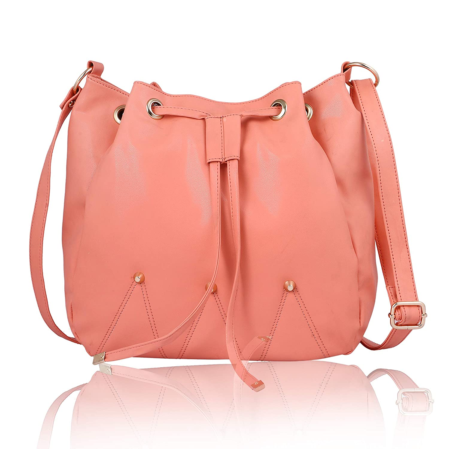 Women Marks Women s Sling Bag (Peach)  Amazon.in  Shoes   Handbags 71260a40a2