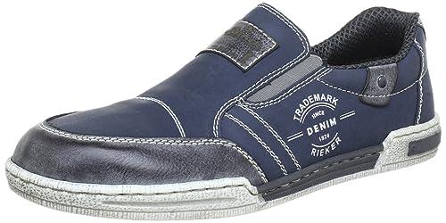 Rieker 15751-45 15751 - Mocasines para hombre, color azul, talla 41: Amazon.es: Zapatos y complementos