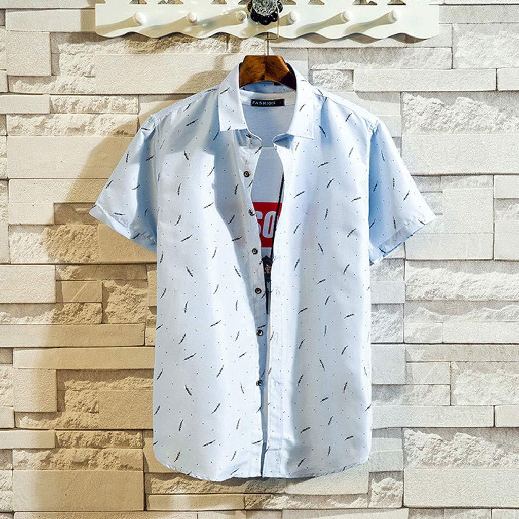 MOTOCO Hombreshirts Poloshirt de Manga Corta Camisetas con ...