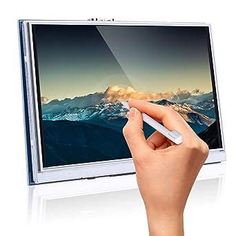 Longruner para Raspberry Pi 4 Pantalla táctil de Touch Screen HDMI LCD TFT de 800x480 5