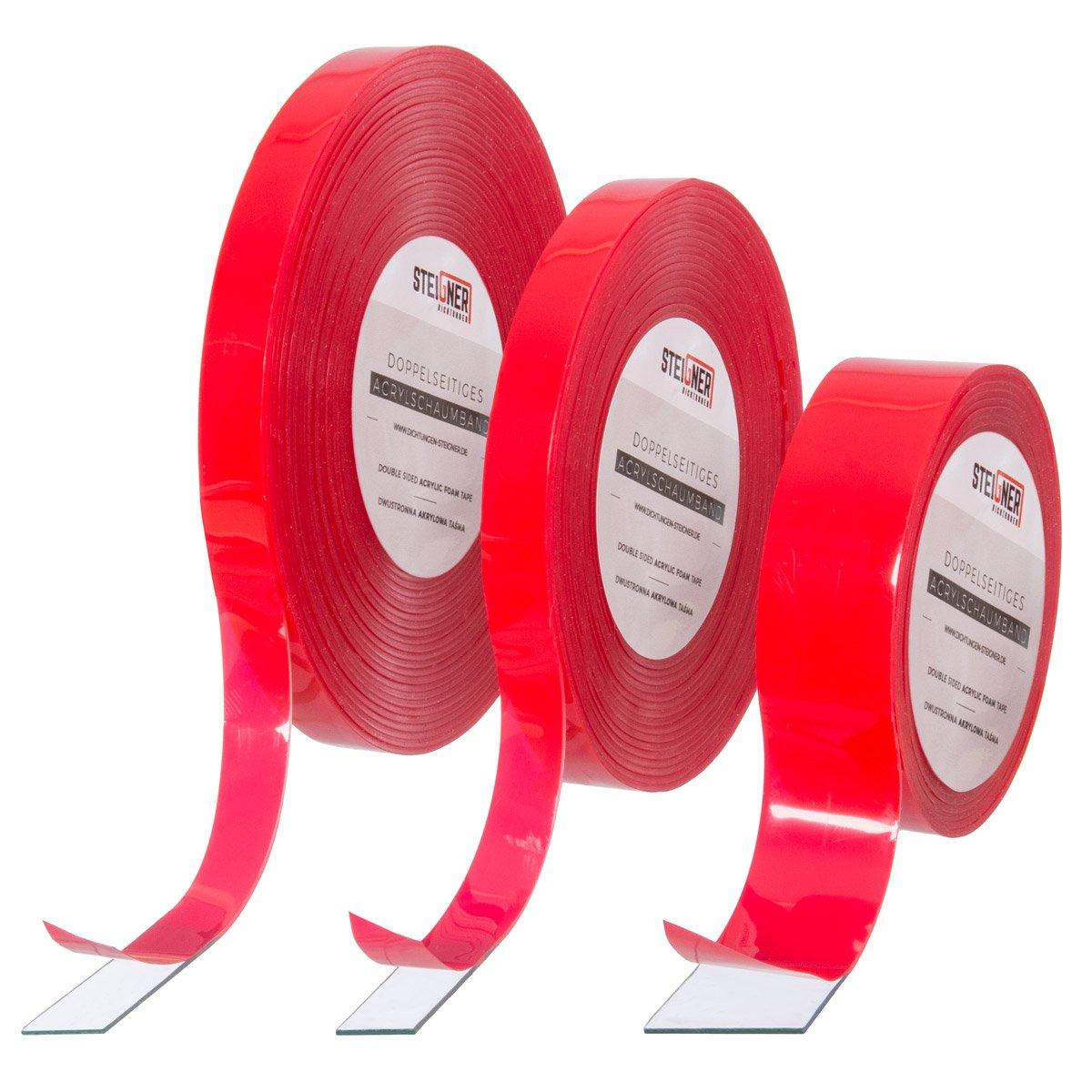 Doppelseitiges Acrylband 1,5m - SK01-T-5 Schaumklebeband Transparent ...