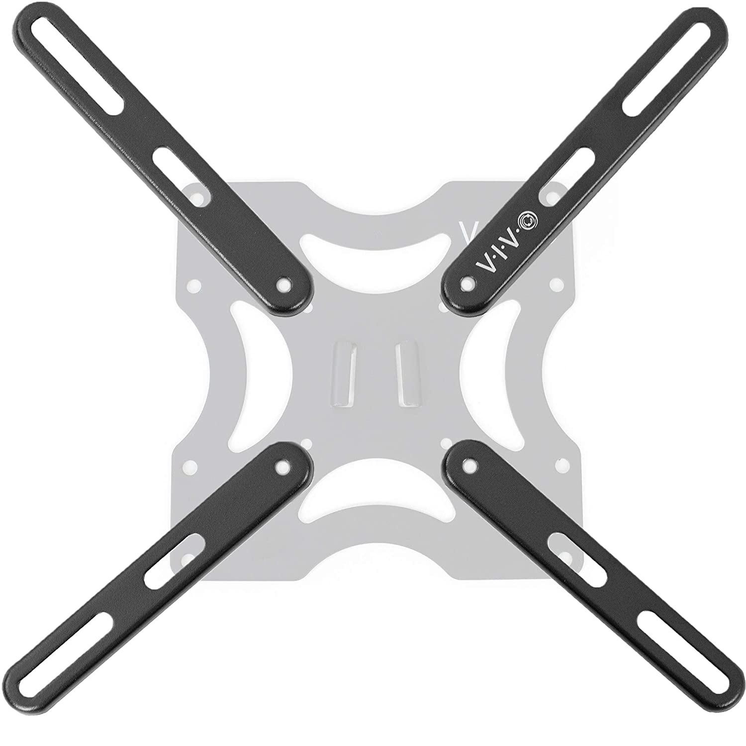 VIVO Steel VESA Extension Mount Adapter Brackets for Screens 32 to 55 inch LCD LED TV | Conversion Plate Kit for VESA up to 400x400mm (MOUNT-AD400B)
