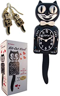 product image for Kit Cat Klock Classic Vintage Black and Gold & Black Earrings Set