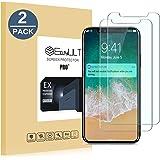 EasyULT Verre Trempé iPhone X[2-Pièces], iPhone X Verre Trempé Protection écran, iPhone X Vitre Film Glass Screen Protector(Compatible Fonction 3D Touch)