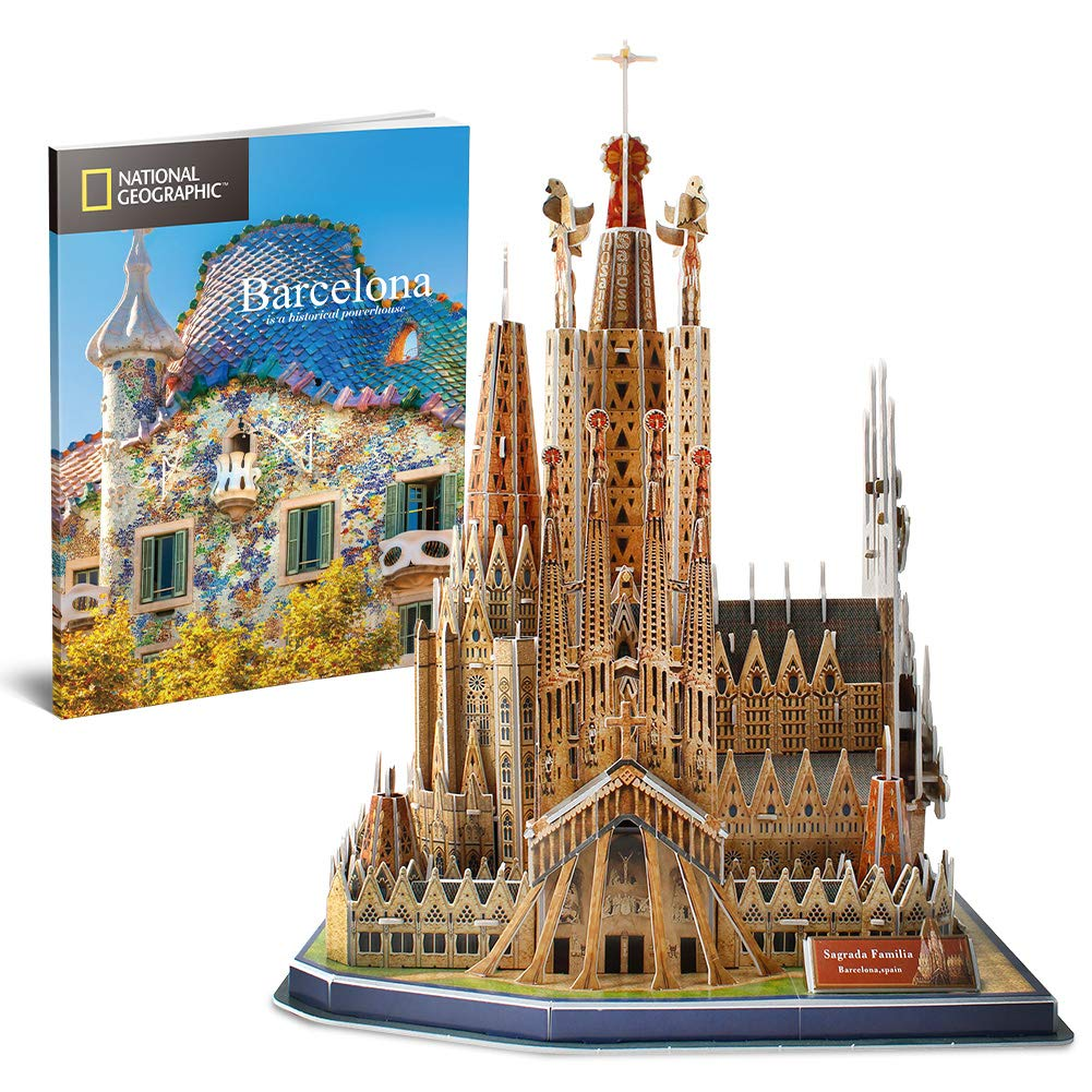 CubicFun-National Geographic Colosseum 3D Model Puzzle Kits Toy with Booklet,DS0976h
