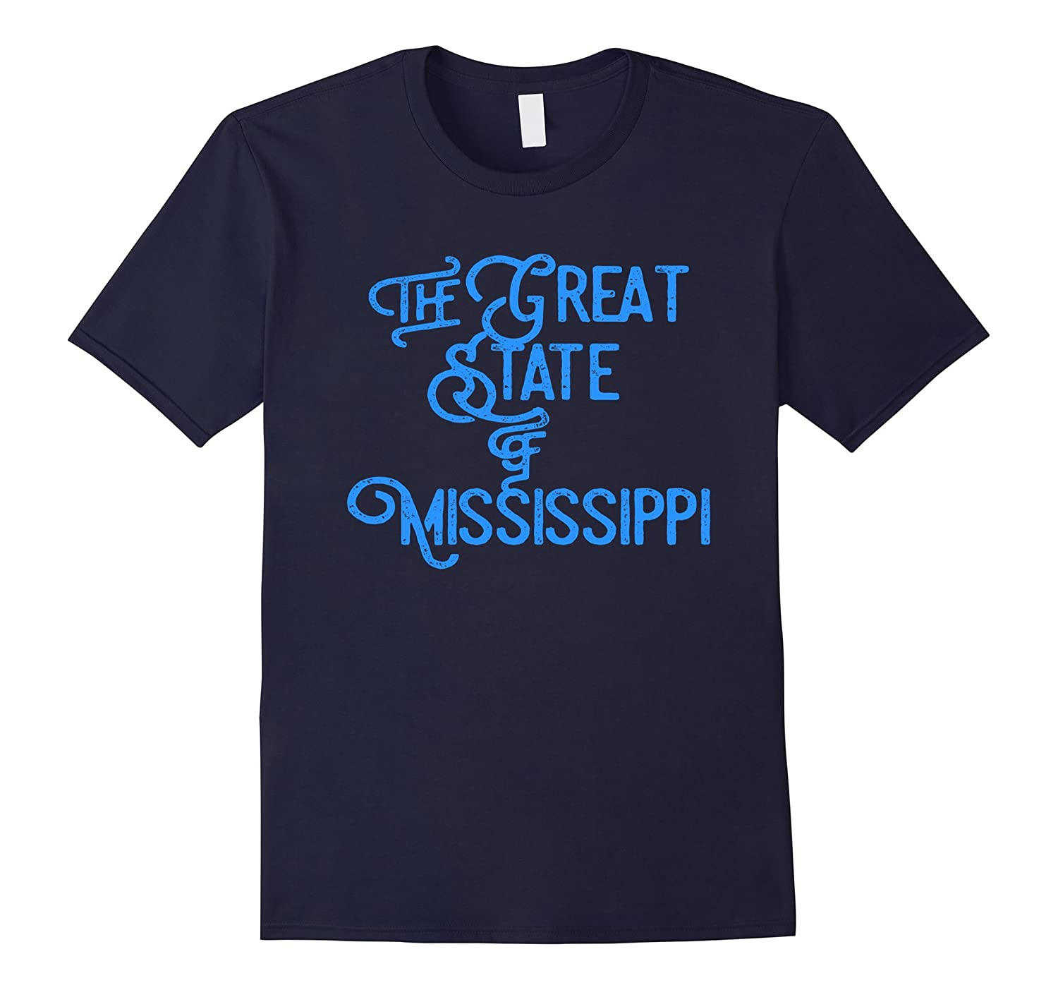 The Official Great State of Mississippi T-Shirt (Blue)