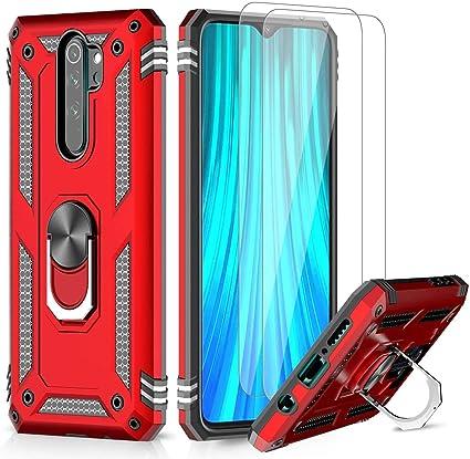 Cover Xiaomi Mi Note 10 / 10 Pro Antiurto Protezione Ibrida Supporto Video Rosso