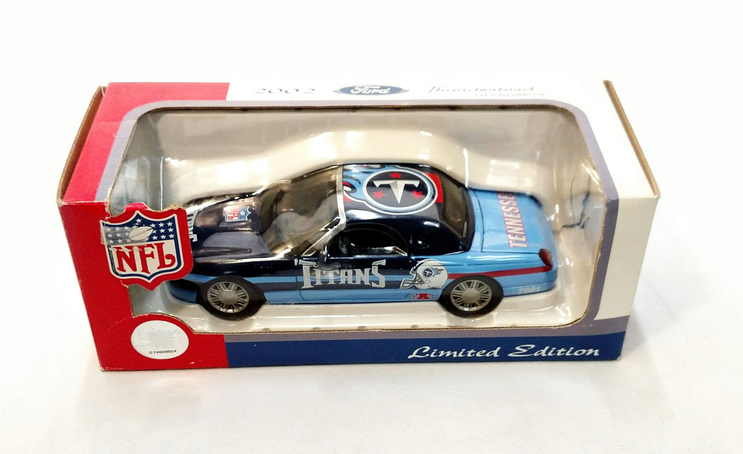 Tennessee Titans 2002 Ford Thunderbird Limited Edition Die Cast Collectible