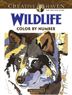Amazon.com: Creative Haven Dogs Color by Number Coloring Book ...