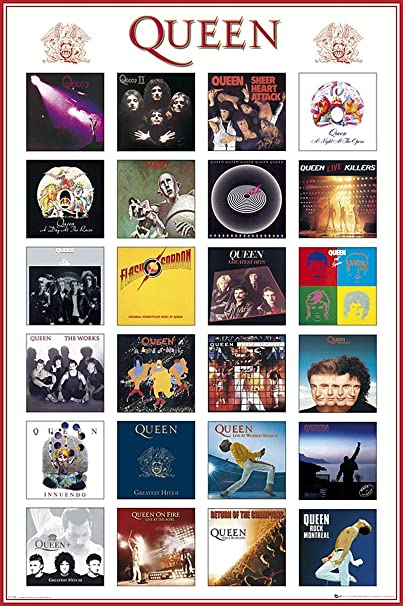 Close Up Póster Queen - Covers/Portadas (61cm x 91,5cm): Amazon.es: Hogar
