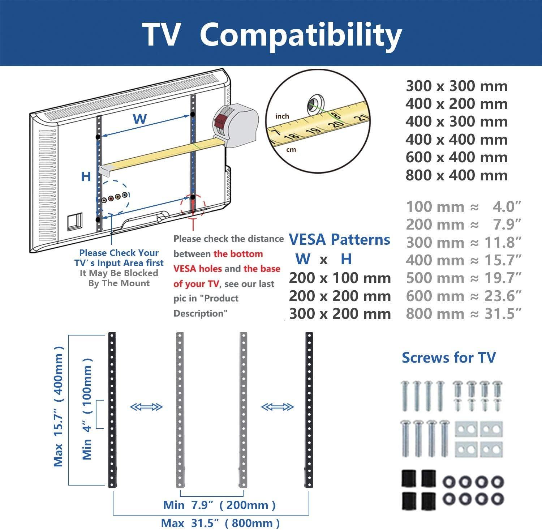 RFIVER Soporte TV de Mesa para Television de 32 a 55 Pulgadas ...