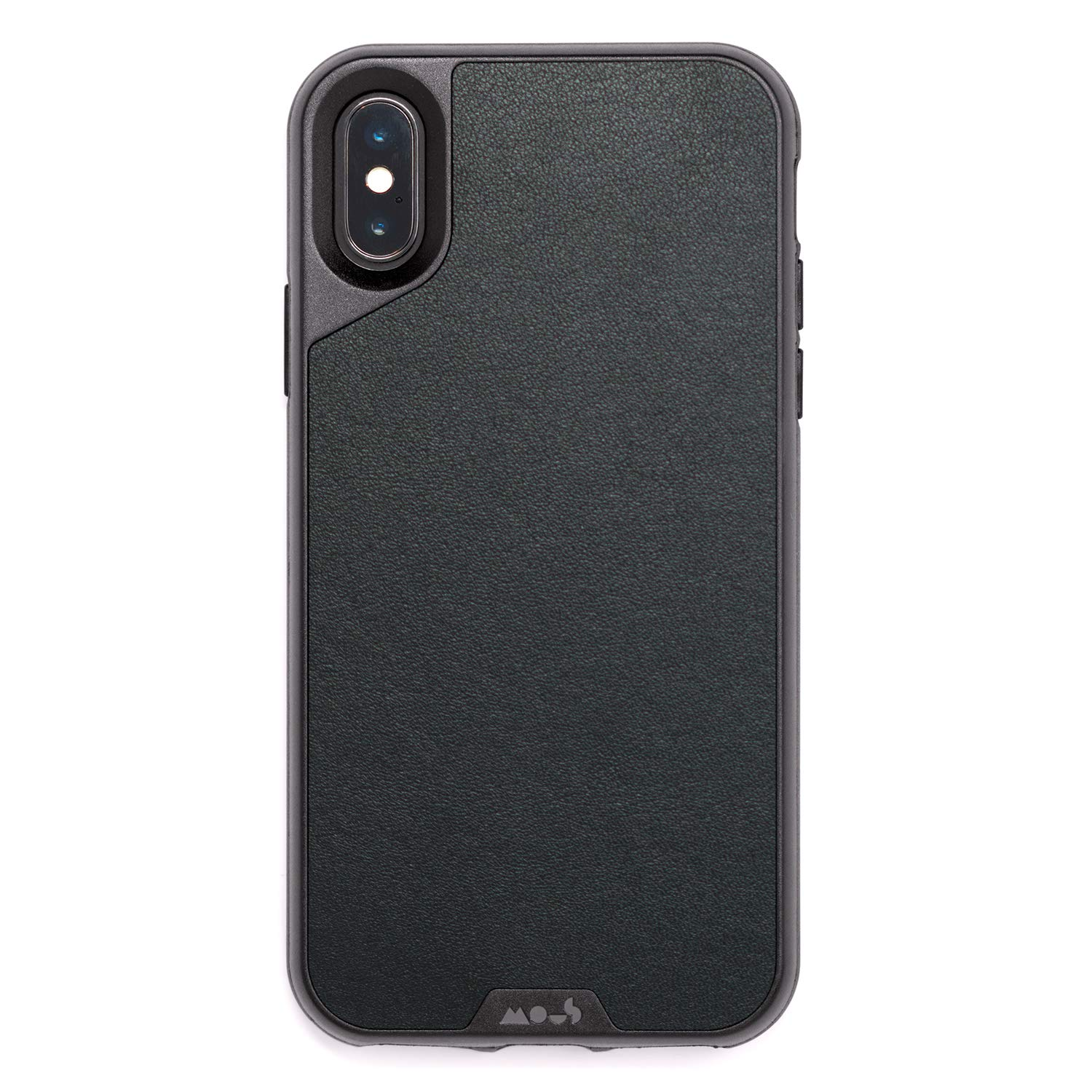 watch 7049e a465e Mous Protective iPhone X/XS Case - Black Leather - Screen Protector Inc.