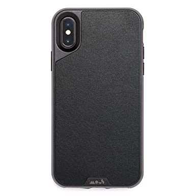 watch 5293d bd1a3 Mous Protective iPhone X/XS Case - Black Leather - Screen Protector Inc.