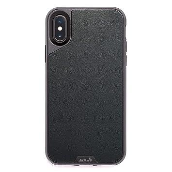Mous Carcasa Protectora para iPhone X y XS - Cuero auténtico - Protector de Pantalla Incluido