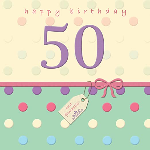 Twizler Tarjeta de 50º cumpleaños con acabado de cristal ...