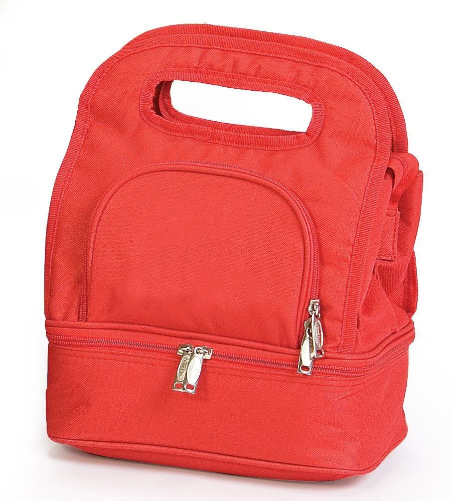 Picnic Plus-PSM-144ROT Savoy Insulated Lunch Tote - Solide ROT