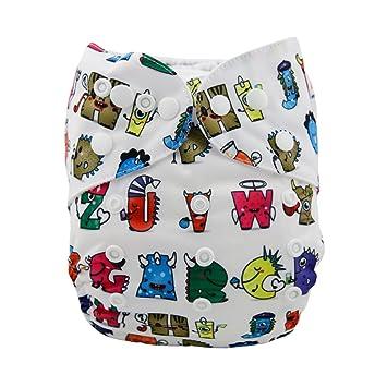 Amazon.com : Alva Baby Christmas Design Reuseable Washable Pocket ...