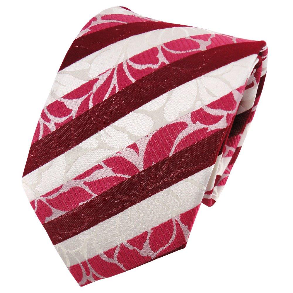 TigerTie diseñador corbata de seda - rojo fresa roja rosé blanco ...
