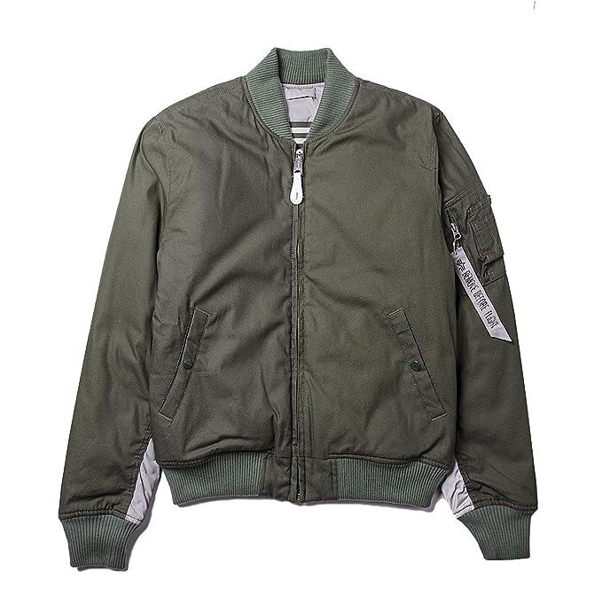 Alpha Industries - Chaqueta - Bomber Jacket - para hombre Olive/Grey M