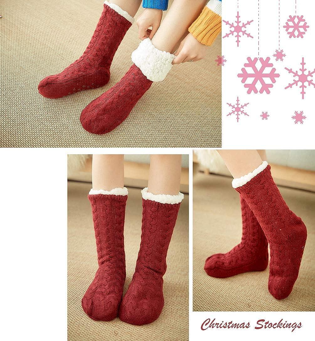 antiscivolo JFan Calzini da donna caldi e soffici calzini invernali e natalizi