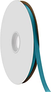 """product image for Offray Berwick 3/8"""" Single Face Satin Ribbon, Turquoise Blue, 100 Yds"""