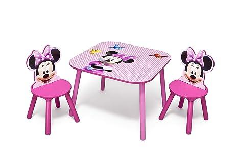 Scrivania In Legno Minnie Mouse : Disney minnie set tavolo sedie in legno amazon casa e cucina