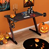 """EUREKA ERGONOMIC Z1-S Gaming Desk 44.5"""" Z Shaped Home Office PC Computer Desk, One-Piece Table Top Pro with LED Lights Contro"""