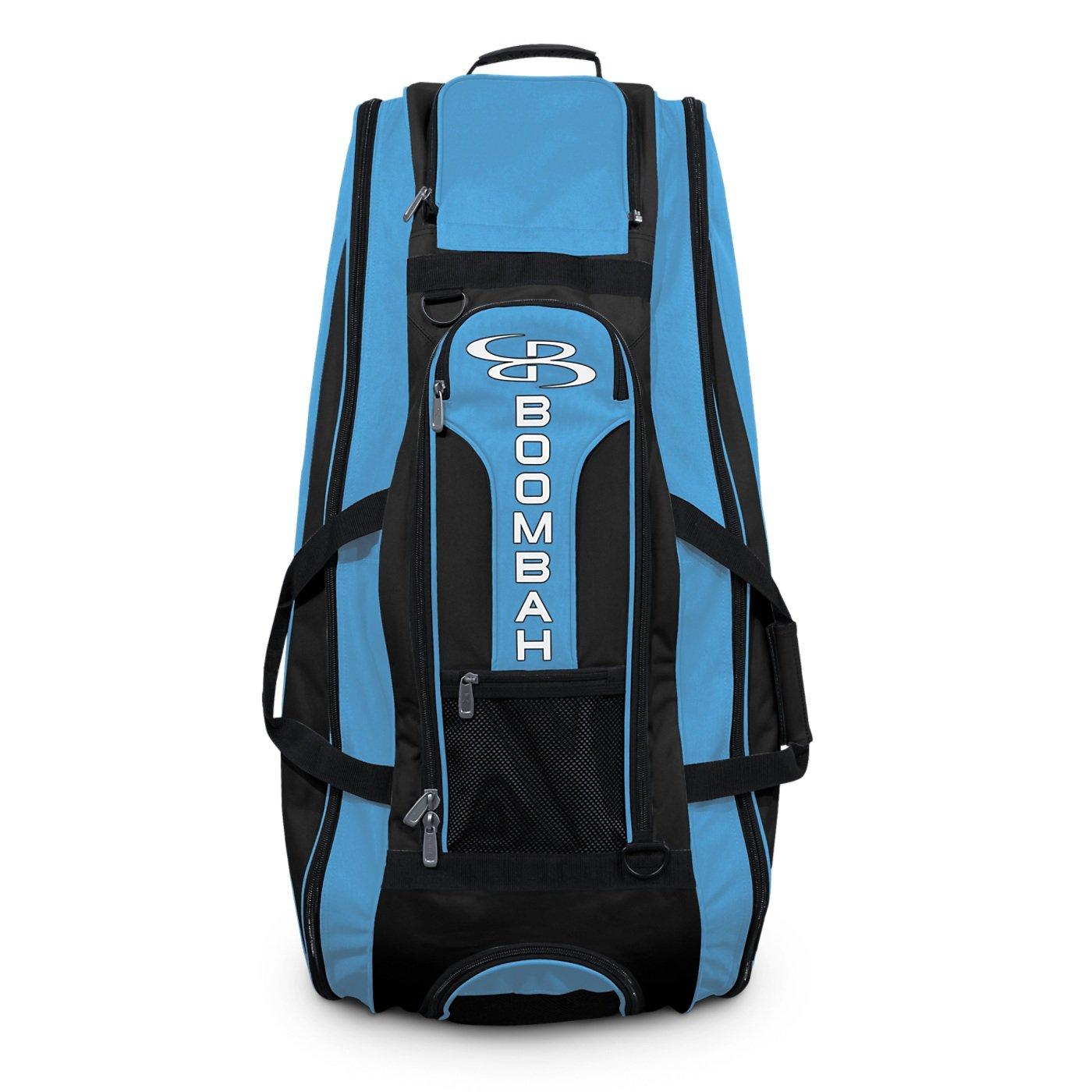 Boombah Beast Baseball/Softball Bat Bag - 40'' x 14'' x 13'' - Black/Columbia Blue - Holds 8 Bats, Glove & Shoe Compartments by Boombah (Image #3)